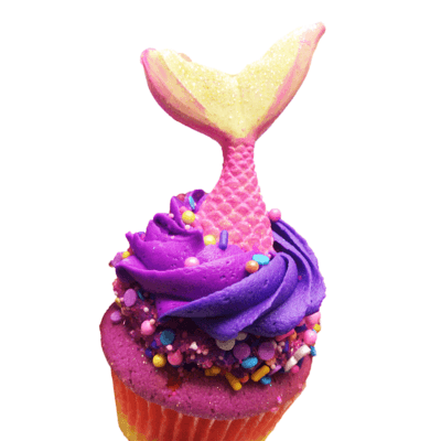 summer mermaid cupcake